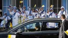misionárky lásky vítajú pápeža Františka