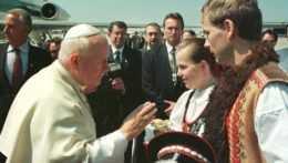 Privítanie pápeža Jána Pavla II.