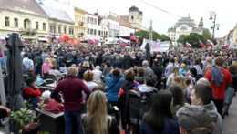 protivládny protest v Košiciach