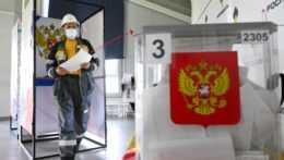Volebná urna ruských parlamentných volieb.