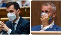 poslanci Juraj Šeliga a Richard Raši
