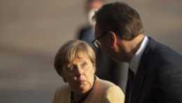 nemecká kancelárka Angela Merkelová so srbským prezidentom Aleksandarom Vučičom