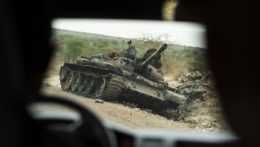 zničený tank v etiópskom štáte Tigraj