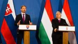 Eduard Heger a Viktor Orbán.