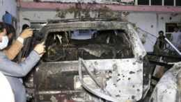 Útok dronom v Afganistane.