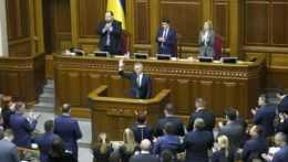 Ukrajinský parlament.