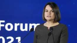 bieloruská exilová opozičná líderka Sviatlana Cichanovská