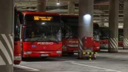 autobusy spoločnosti Slovak Lines na novej autobusovej stanici v Bratislave