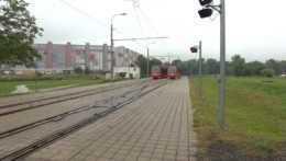električková trať v Petržalke