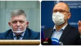 predseda Smeru-SD Robert Fico (vľavo) a minister hospodárstva Richard Sulík (SaS).