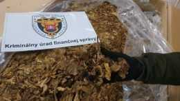 tabak zaistený kriminálnym úradom finančnej správy