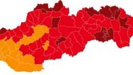 Mapa okresov.