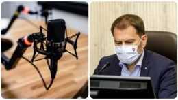 Interiér rádia a Igor Matovič
