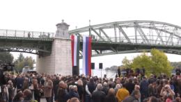 Most Márie Valérie medzi Štúrovom a Ostrihomom.