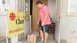 balíčky potravinovej pomoci pre chudobných