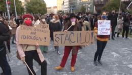 Protest za bezpečné a legálne interupcie v Bratislave.