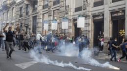 Protesty v Ríme