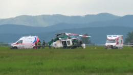 Havarovaný vrtuľník v Prešove